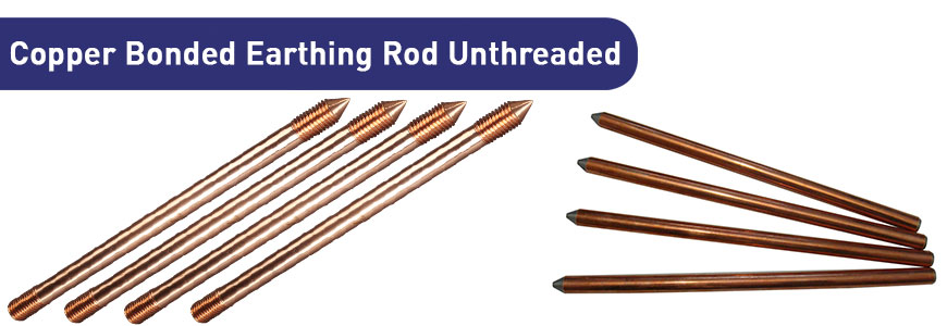 Copper Bonded Earthing Rod Unthreaded